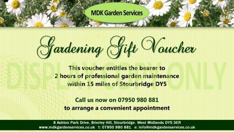 gardening gift voucher mdk garden services