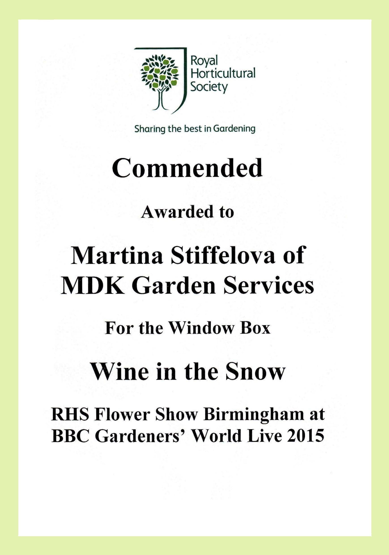 RHS Show Award